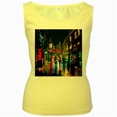 Abstract Vibrant Colour Cityscape Women s Yellow Tank Top