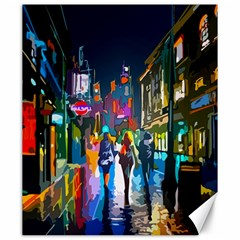Abstract Vibrant Colour Cityscape Canvas 20  X 24