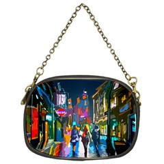 Abstract Vibrant Colour Cityscape Chain Purses (one Side)