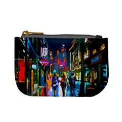 Abstract Vibrant Colour Cityscape Mini Coin Purses