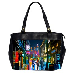 Abstract Vibrant Colour Cityscape Office Handbags (2 Sides)