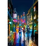 Abstract Vibrant Colour Cityscape 5.5  x 8.5  Notebooks Back Cover Inside