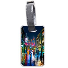 Abstract Vibrant Colour Cityscape Luggage Tags (two Sides)
