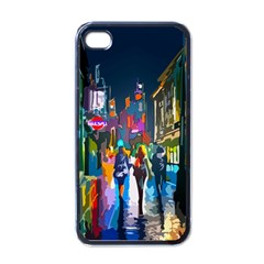 Abstract Vibrant Colour Cityscape Apple Iphone 4 Case (black)