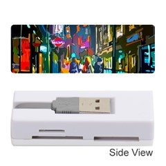 Abstract Vibrant Colour Cityscape Memory Card Reader (stick)