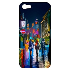 Abstract Vibrant Colour Cityscape Apple Iphone 5 Hardshell Case