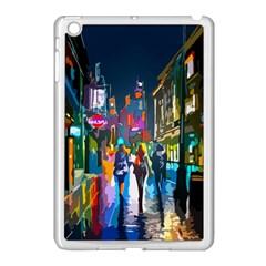 Abstract Vibrant Colour Cityscape Apple Ipad Mini Case (white) by BangZart