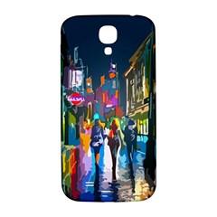 Abstract Vibrant Colour Cityscape Samsung Galaxy S4 I9500/i9505  Hardshell Back Case