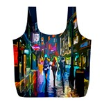 Abstract Vibrant Colour Cityscape Full Print Recycle Bags (L)  Back