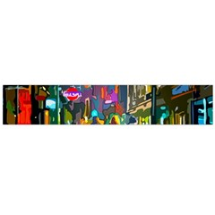 Abstract Vibrant Colour Cityscape Large Flano Scarf