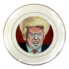 Donald Trump Pop Art President Usa Porcelain Plates by BangZart