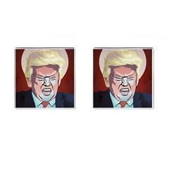 Donald Trump Pop Art President Usa Cufflinks (square)