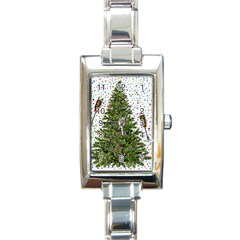 New Year S Eve New Year S Day Rectangle Italian Charm Watch by BangZart