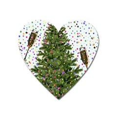 New Year S Eve New Year S Day Heart Magnet by BangZart