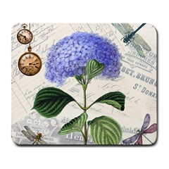 Vintage Shabby Chic Dragonflies Large Mousepads