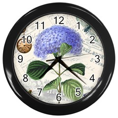 Vintage Shabby Chic Dragonflies Wall Clocks (black)
