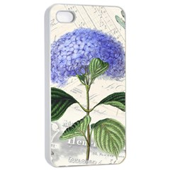 Vintage Shabby Chic Dragonflies Apple Iphone 4/4s Seamless Case (white)