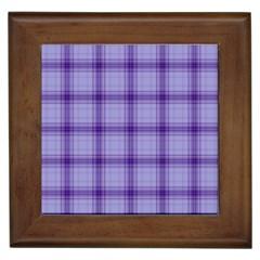 Purple Plaid Original Traditional Framed Tiles