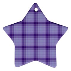 Purple Plaid Original Traditional Star Ornament (two Sides)
