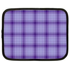 Purple Plaid Original Traditional Netbook Case (large) by BangZart