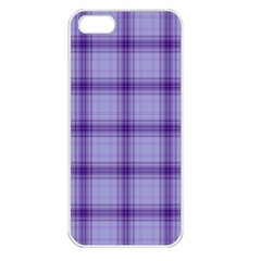 Purple Plaid Original Traditional Apple Iphone 5 Seamless Case (white) by BangZart