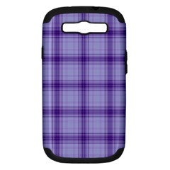 Purple Plaid Original Traditional Samsung Galaxy S Iii Hardshell Case (pc+silicone)