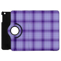 Purple Plaid Original Traditional Apple Ipad Mini Flip 360 Case