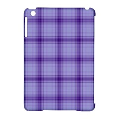 Purple Plaid Original Traditional Apple Ipad Mini Hardshell Case (compatible With Smart Cover) by BangZart