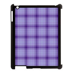 Purple Plaid Original Traditional Apple Ipad 3/4 Case (black)