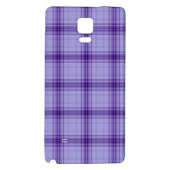 Purple Plaid Original Traditional Galaxy Note 4 Back Case