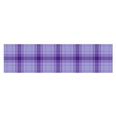 Purple Plaid Original Traditional Satin Scarf (oblong)