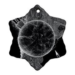 Space Universe Earth Rocket Snowflake Ornament (two Sides) by BangZart