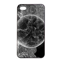 Space Universe Earth Rocket Apple Iphone 4/4s Seamless Case (black) by BangZart