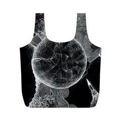 Space Universe Earth Rocket Full Print Recycle Bags (m)