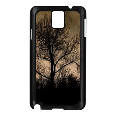 Tree Bushes Black Nature Landscape Samsung Galaxy Note 3 N9005 Case (black)