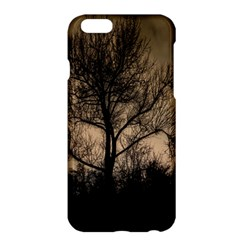 Tree Bushes Black Nature Landscape Apple Iphone 6 Plus/6s Plus Hardshell Case
