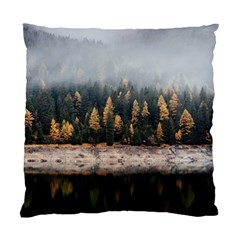 Trees Plants Nature Forests Lake Standard Cushion Case (one Side)