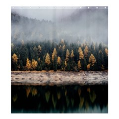 Trees Plants Nature Forests Lake Shower Curtain 66  X 72  (large)