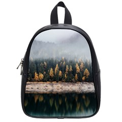 Trees Plants Nature Forests Lake School Bag (small)