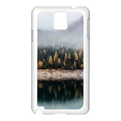 Trees Plants Nature Forests Lake Samsung Galaxy Note 3 N9005 Case (white)