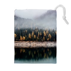 Trees Plants Nature Forests Lake Drawstring Pouches (extra Large)
