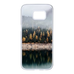 Trees Plants Nature Forests Lake Samsung Galaxy S7 Edge White Seamless Case