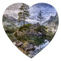 Hintersee Ramsau Berchtesgaden Jigsaw Puzzle (heart) by BangZart