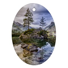 Hintersee Ramsau Berchtesgaden Oval Ornament (two Sides)
