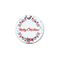 Merry Christmas Christmas Greeting Golf Ball Marker (4 Pack) by BangZart