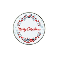 Merry Christmas Christmas Greeting Hat Clip Ball Marker (10 Pack) by BangZart