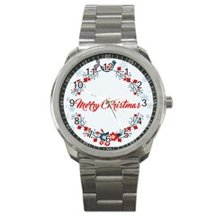 Merry Christmas Christmas Greeting Sport Metal Watch by BangZart