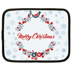 Merry Christmas Christmas Greeting Netbook Case (xxl)