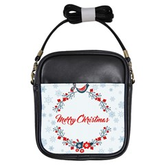 Merry Christmas Christmas Greeting Girls Sling Bags by BangZart