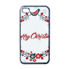 Merry Christmas Christmas Greeting Apple Iphone 4 Case (black)